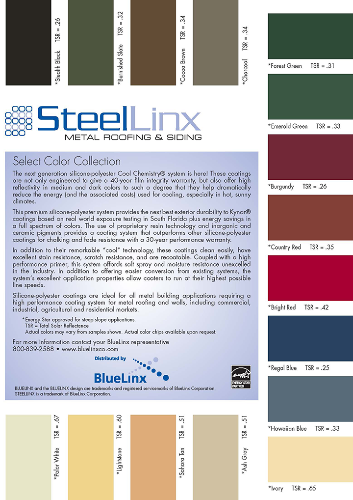 SteelLinx Color Card 4-15-11 Page 1